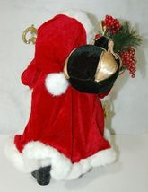 Roman Incorperated Detailed Santa Figurine Holding Filigree Gold Staff image 4