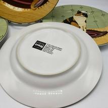 """Warren Kimble Cat Collection Salad Plates 8"""" Set 4 2000 Sakura Kitten  - $20.00"""