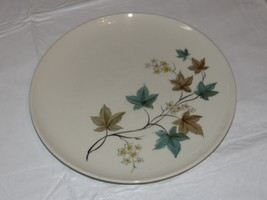 "Carefree True China by Syracuse Woodbine Plate 10"" Off White flowers lea... - $29.69"