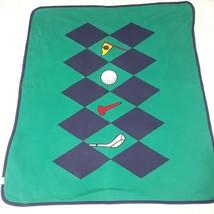 Vintage Gymboree Golf Fairways Reversible Blanket baby putt putt green R... - $59.88