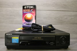 Sony SLV-678HF VCR 4-Head HiFi Stereo VHS W Cables + Tape Tested and works great - $94.00