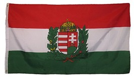ALBATROS 3 ft x 5 ft Hungary Hungarian Crest Royal Country Flag Grommets... - $43.01