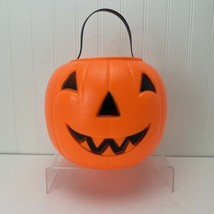 Vintage 1980 EMPIRE Blow Mold Jack-O-Lantern Pumpkin Treat Bucket Candy ... - $10.00