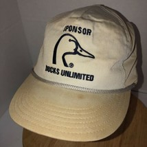 Vintage DUCKS UNLIMITED Sponsor 80s USA Hat Cap Strapback Dorfman Pacifi... - $46.95