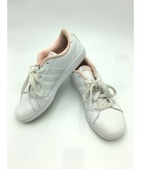 Adidas Neo Advantage Womens 6 Pink White Sneakers Shoes Lace Up - $12.99
