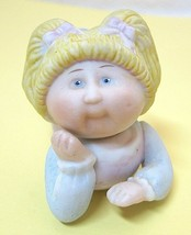 1984 - 85 Edition Cabbage Patch Blonde Girl Porcelain Figurine 3 1/4 Inches SHP - $18.32