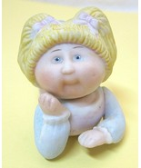 1984 - 85 Edition Cabbage Patch Blonde Girl Porcelain Figurine 3 1/4 Inc... - $18.32