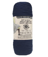 Soft and Shiny Yarn by Loops & Threads, Solid, Medium 4, Denim Jeans, 6 ... - $7.95