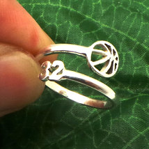925 Silver Custom Basketball Mom Number Ring  - $42.00