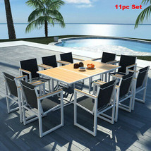 Patio Furniture Sets Clearance Outdoor Garden Dining Table Chair Metal W... - $959.88