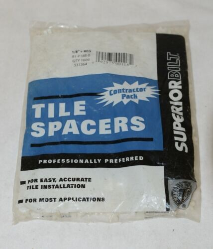 Superiorbilt 81P18BB Tile Spacers One Eighth Inch 1600 Count