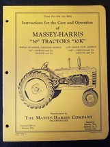Original Massey Harris Care & Operation Manual for 30 / 30K Tractors - Mint - $29.65