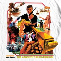 James Bond The Man Golden Gun T shirt 1970's movie retro 007 cotton graphic tee image 1