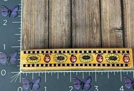 Hero Arts Checkerboard Ladybug Border 1998 F1371 Wood Flowers #U65 - $3.22