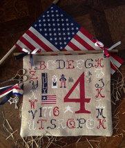 R-79 July 4th chart + charms patriotic cross stitch chart Rovaris   - $12.00