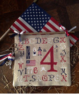 R-79 July 4th patriotic cross stitch chart Rovaris   - $12.00