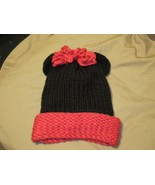 Handmade Knitted Minnie Mouse Infant Winter Hat Cap CUTE - $9.90