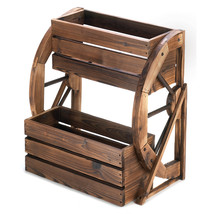 Wagon Wheel Double-tier Planter 10013842 - $105.03