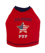 Top Paw Red Star Spangled Pup Pet Tee Large - $12.99