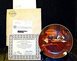 """1983 """"Father's Help"""" by Norman Rockwell Plate with Box ( Knowles ) AA20-CP2189 V image 7"""