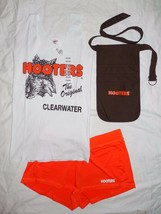 New HOOTERS Uniform Halloween Costume Tank/Short/Pouch Clearwater Florid... - $62.32