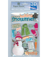 3 D Building Snowmen Sticker Packet Children's  Crafts  Paper House Prod... - $4.00