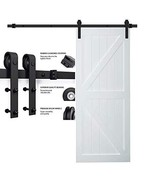 "5FT/60"" Sliding Barn Door Hardware Track Kit Single Wood Door Wall Mount... - $64.87"