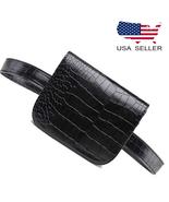 Women Alligator Fanny Pack Leather Waist Belt Classic Bag Bum Pouch Wall... - $19.98