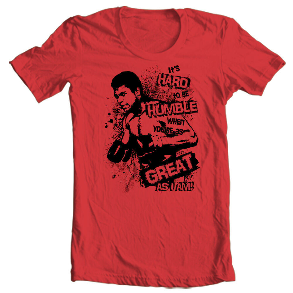 Muhammad Ali T-shirt Hard to be Humble boxing print graphic cotton tee ALI121