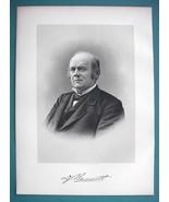 DAVID BENNETT Buffalo New York Businessman - SUPERB Portrait 1877 Antiqu... - $13.86