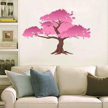 Tree blossom pink giant 3D Window Decal WALL STICKER Home Decor Art Mural - $6.92+