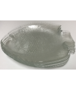 Arcoroc France Poisson 6 Clear Glass Fish Plates - $49.99