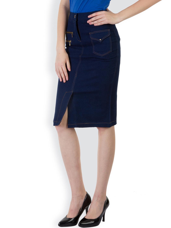 Rider Republic Women's Blue Flare Pleated Skater Skirt