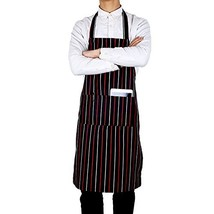 Flying Frog Bib Apron with Pockets for Women and Men - Easy to Wear - Re... - $9.47