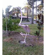 Flamingo Metal Shovel Bird Garden Art - $140.00