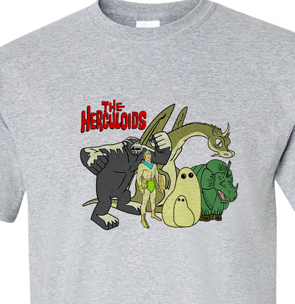 L cartoons saturday morning cartoons retro vintage comics for sale online graphic tee store gray