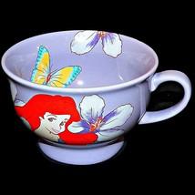 Disney Store The Little Mermaid Ariel Large Lavender Cappucino Coffee Mu... - $29.99