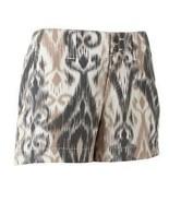 Sonoma Life + Womens  Misses Ikat Shorts Brown Twill Sz 6 - $14.99