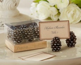 Pinecone Place Card Holders Set of 6 Fall Wedding Favors - ₨833.50 INR