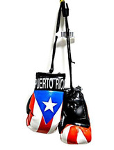 Puerto Rico Rican Mini Boxing Gloves Car Flag Decoration Mirror Hanging ... - $8.99