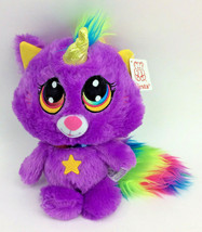 "Fiesta Caticorn Unicorn Cat Purple Rainbow Star Plush Stuffed Animal 12""... - $33.82"