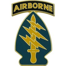 ARMY COMBAT SERVICE ID BADGE (CSIB):SPECIAL FORCES GROUP WITH AIRBORNE TAB - $19.78