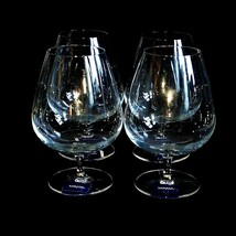 4 (Four) Mikasa Barmaster's Classic Elegant Crystal Brandy Snifters New-Signed - $49.49