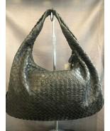 BOTTEGA VENETA Black Embossed Intrecciato Nappa Leather Handbag $1900 - $704.01