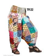 10 Cotton Alibaba Harem Patchwork Pants Boho Gypsy Trousers Wholesale TR22 - $84.55