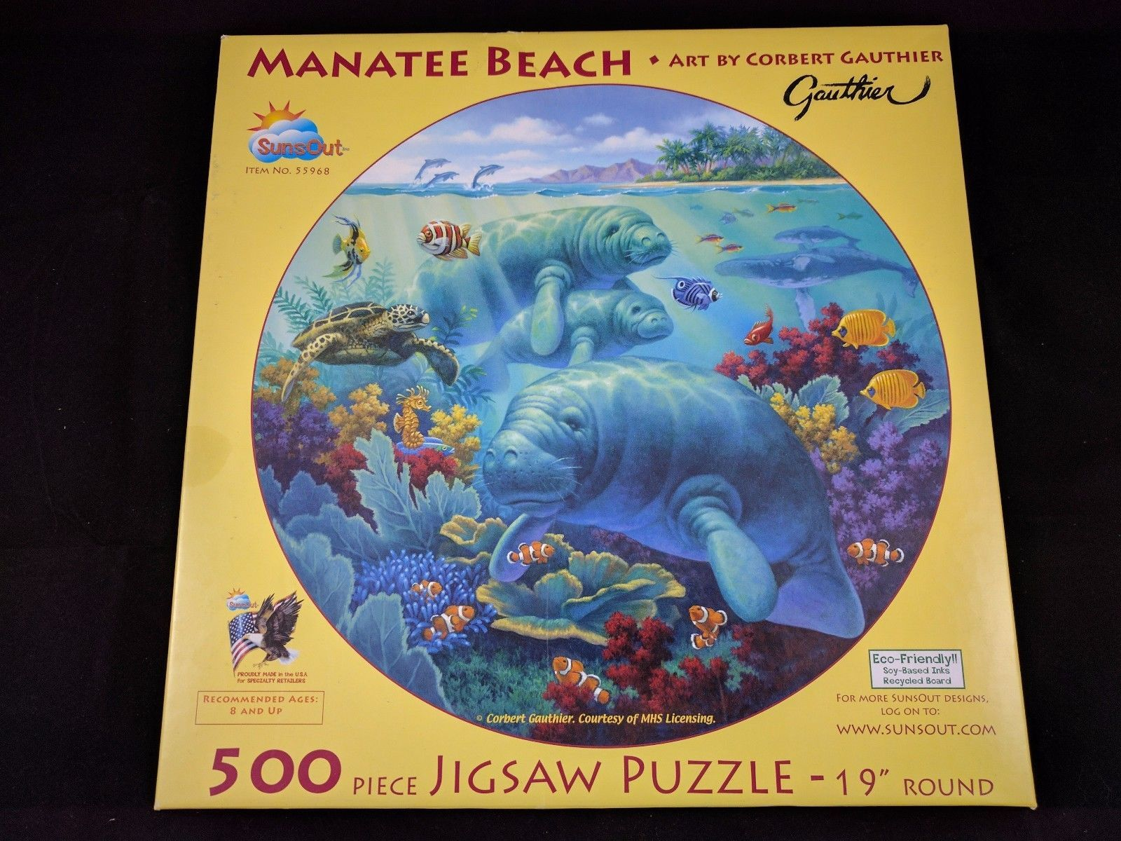 manatee beach 500 piece jigsaw puzzle by and 40 similar items
