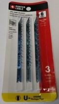 Porter Cable PC1203H-3 HCS 6 TPI Clean Wood Cutting Jig Saw Blades U-Shank  - $3.96