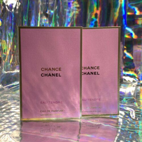 2x NEW W CARD Chanel CHANCE EDP 1.5mL (3mL Total) Eau Tendre