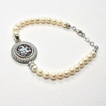 Armband 925 Silber mit Perlen Wasser Dolce Kamee Kamee Zirkonia Kubische image 3