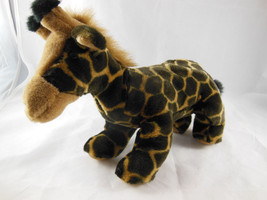 "AURORA WORLD 9"" Rare Dark & Golden BROWN  SOFT Plush Baby GIRAFFE Hard t... - $11.27"